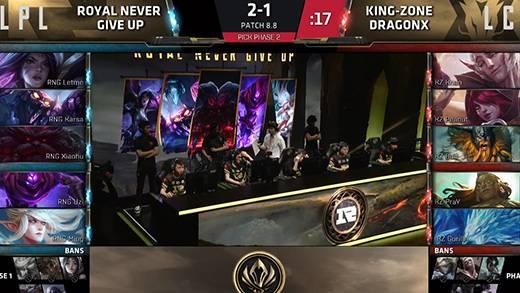 MSI 总决赛5月20日 RNG VS KZ第四场