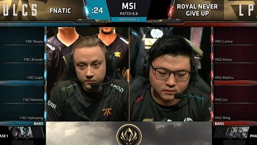 MSI 淘汰赛5月18日 RNG VS FNC 第一场