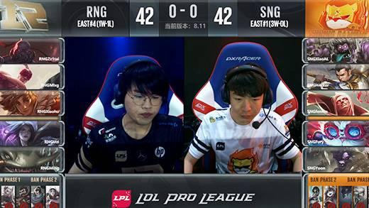 LPL夏季赛6月20日RNG VS SNG第一场
